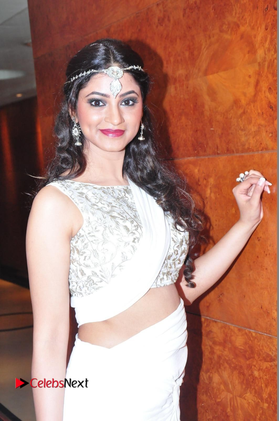 Shilpi Sharma sizzles in White Saree at Kotikokkadu Audio Launch