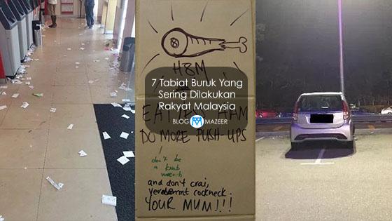 Rakyat Malaysia Sering Melakukan 7 Tabiat Buruk Ini. #4 Anda Mungkin Pernah Buat.