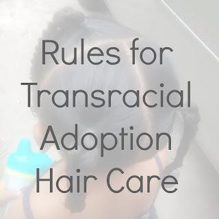 For interracial adoptin hair care
