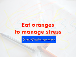 Eat oranges to manage stress