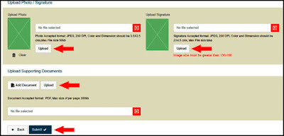 how to upload photo or signature in pan card online