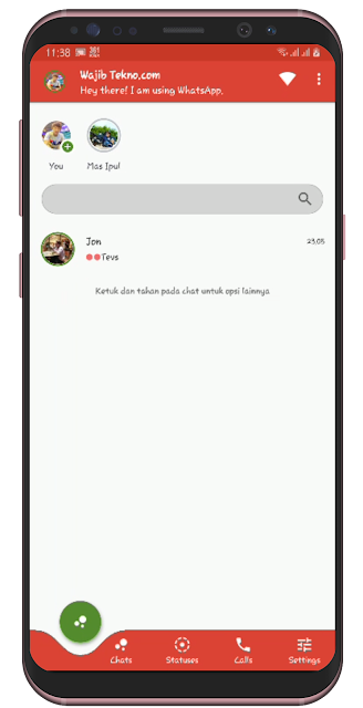 Screenshot Delta WHatsapp Mod Terbaru 2019