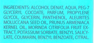 douglas Relaxing Body spray Kukui oil ingredientes