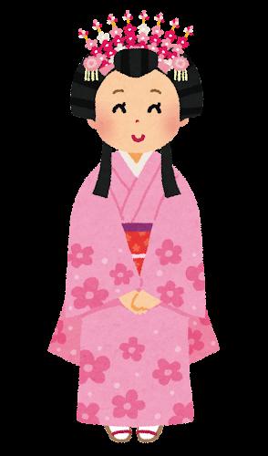 日本のお姫様のイラスト