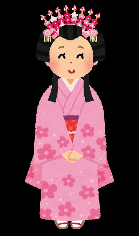 日本のお姫様のイラスト かわいいフリー素材集 いらすとや
