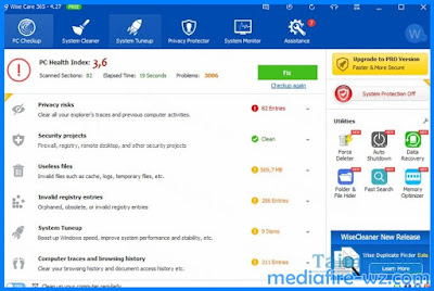 Wise Care 365 Pro 4.3 crack and Portable