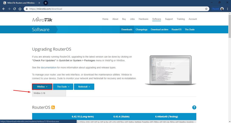 Cara mendownload Winbox Dari Web Mikrotik | Dunia IT