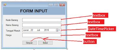4 - Tutorial Vb.Net - Cara membuat Form Simpan(Input) Ke Database Mysql Memakai Connector Odbc