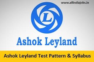 Ashok Leyland Test Pattern