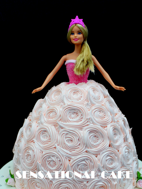 The Sensational Cakes Princess Barbie Rosette Ombre Cake Singapore