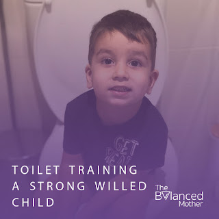 Toilet training a strong willed child