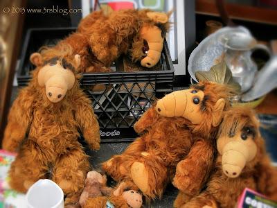 Stuffed toy alien life forms, Rose Bowl Flea Market