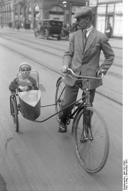 german bicycle sidecar 1931 vintage everyday. Black Bedroom Furniture Sets. Home Design Ideas