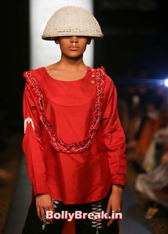 A model in a Siddharth Sinha creation, Bizarre Dresses from Fashion Show - LFW