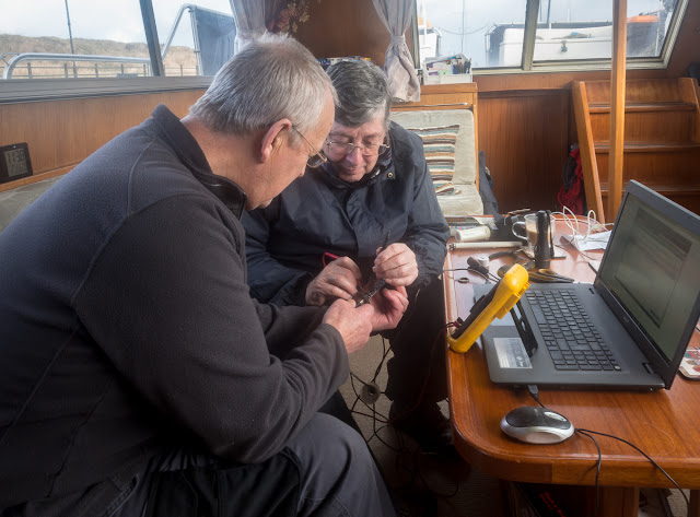 Photo of Phil and Tony testing the wifi booster