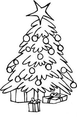 Drawing of christmas festival