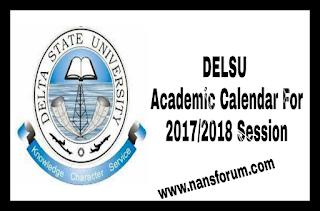Image for DELSU Academic Calendar For 2017/2018 Session
