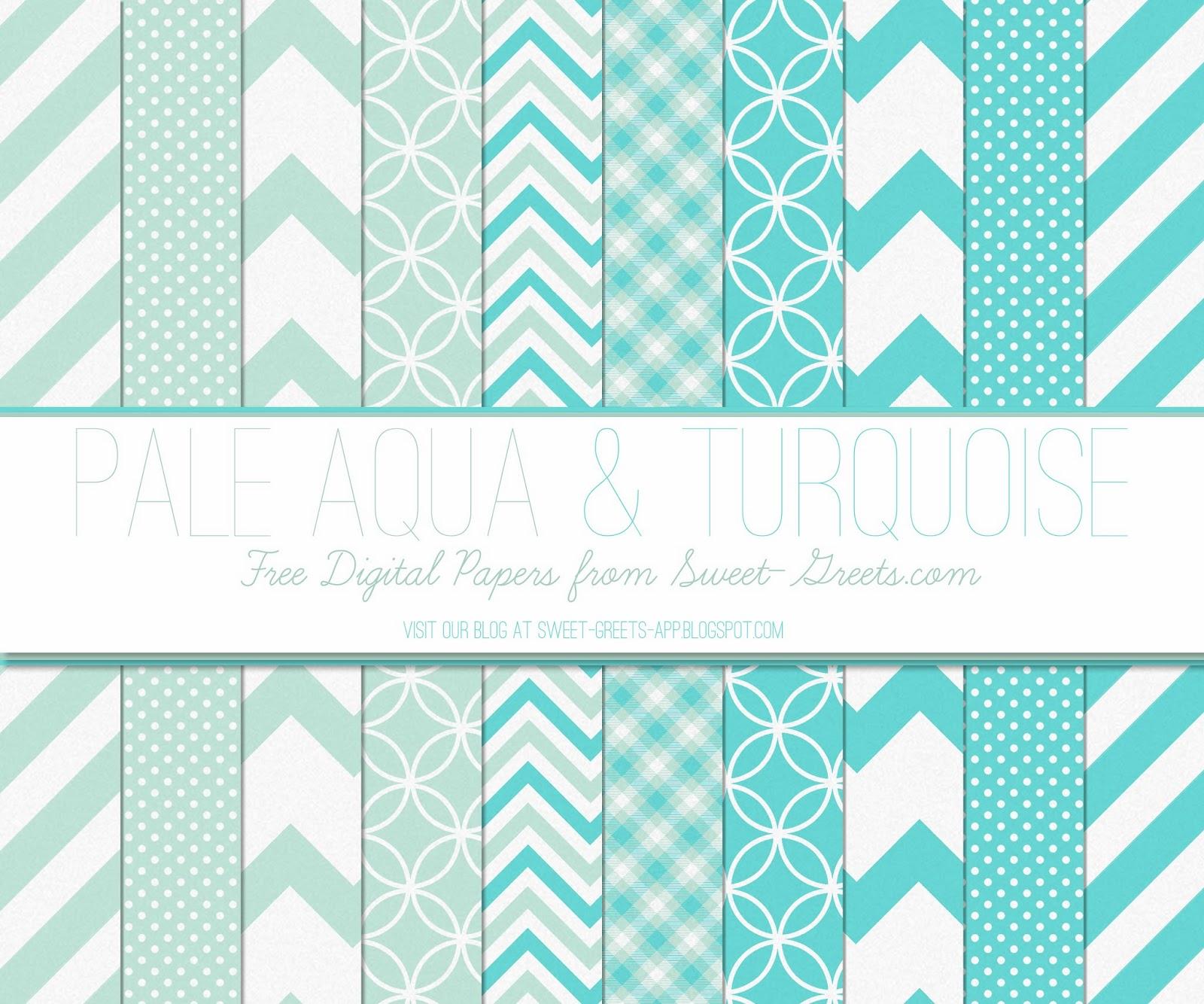 Just Peachy Designs: Free Digital Paper: Aqua and Turquoise