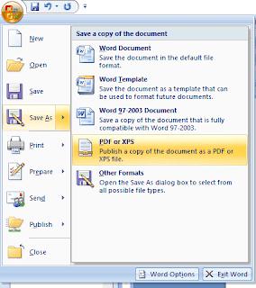 Simpan sebagai PDF atau XPS