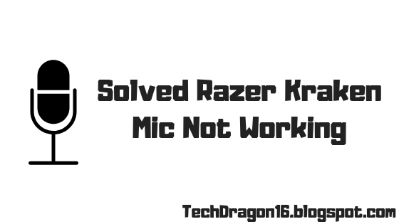 razer kraken mic not working