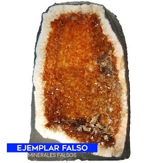 Geoda falsa de cuarzo citrino -  se obtiene por calentamiento de la amatista | foro de minerales