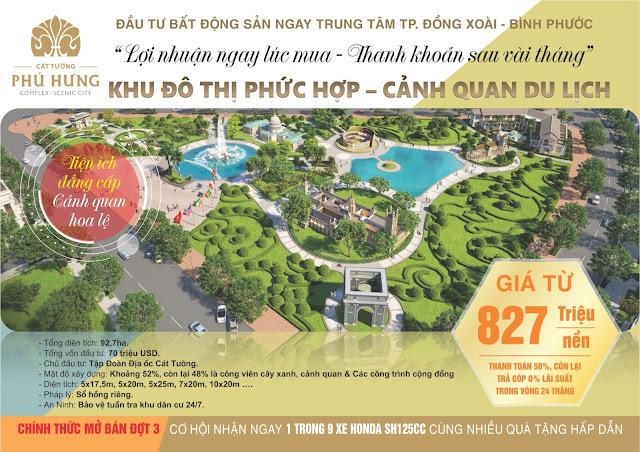Mở bán Đợt 3 dự án Khu Đô Thị Phức Hợp & Cảnh Quan Cát Tường Phú Hưng (92.7 ha)