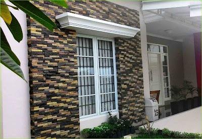 Model Dinding Teras Rumah Minimalis 2019 Dengan Pesona Batu Alam Yang Lebih Natural Dan Alami 2