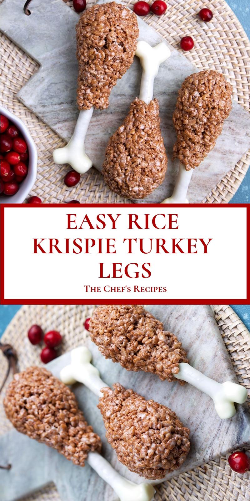 EASY RICE KRISPIE TURKEY LEGS