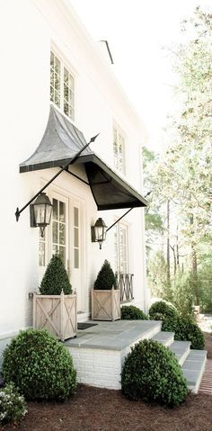 Painted Brick House Exterior French Country