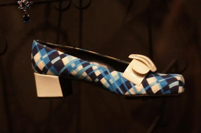 escarpins en soie imprimé ecossais Christian Dior Marc Bohan 1969