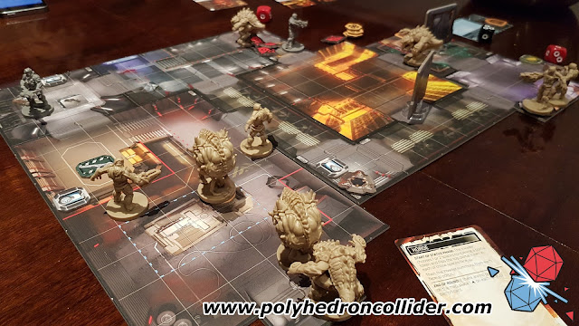 DOOM board game review game set up