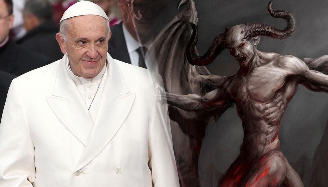 pope francis, devil, evil, satan