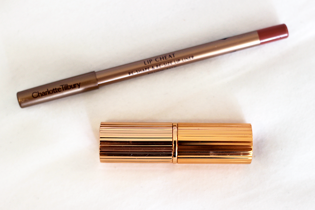 Charlotte Tilbury Lip Cheat Lip Liner in Pillow Talk and Lipstick in Bitch Perfect