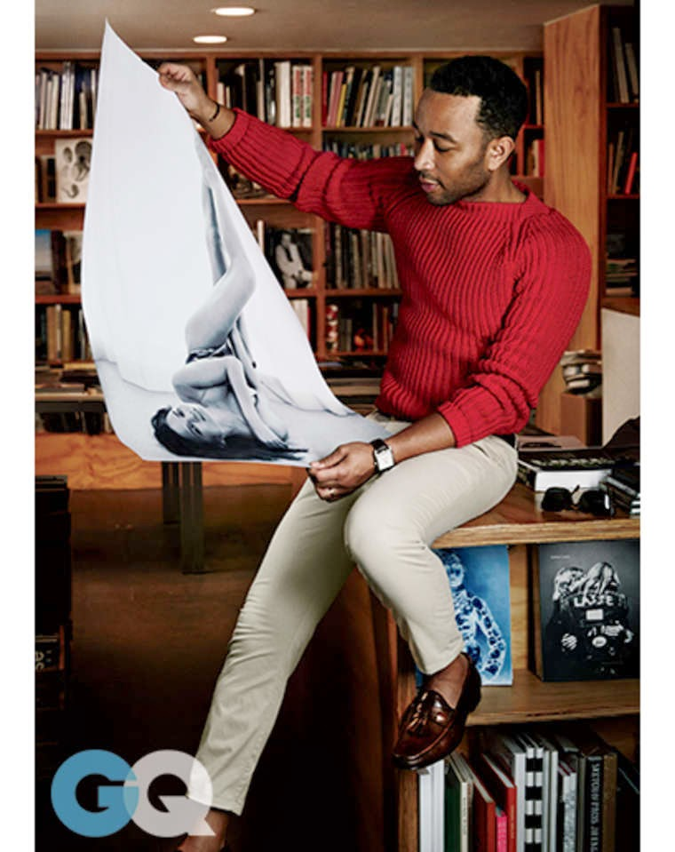 Chrissy Teigen and John Legend pose for an intimate shoot for GQ February 2015