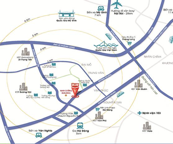 Vị trí của dự án đô thị Dương Nội.