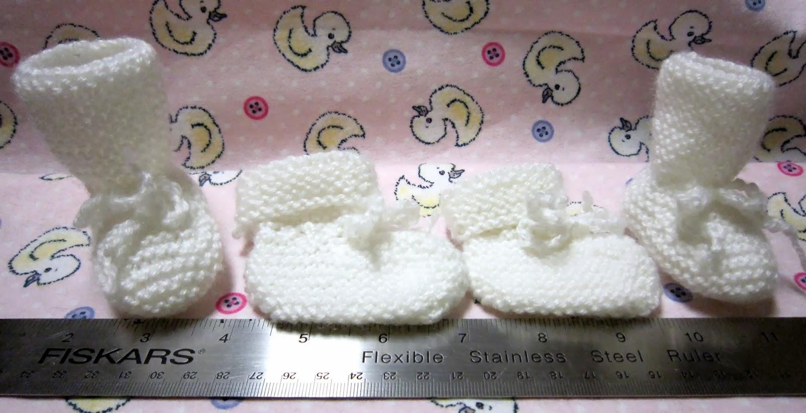 Sea Trail Grandmas Free Knit Easy Preemie Baby Booties