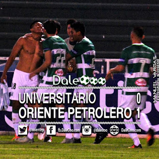 Oriente Petrolero - Resultado Final Universitario 0 - Oriente Petrolero 1 - DaleOoo.com Twitter, Instagram, Facebook, Sitio, Página, Web Club Oriente Petrolero Oficial