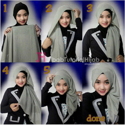 Tutorial Hijab Turban Segi Empat Simple Terbaru Tutorial Hijab Turban Segi Empat Simple