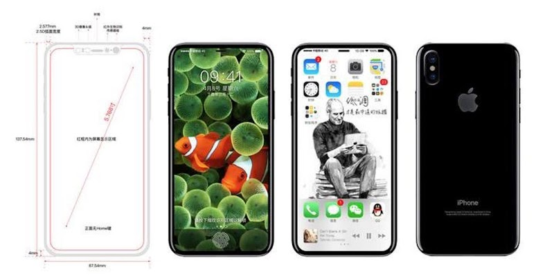 Leak: Apple Iphone 8 To Come With Curved edge to edge OLED Display