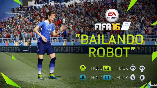 """FIFA 16 celebración de gol """"Bailando robot"""""""
