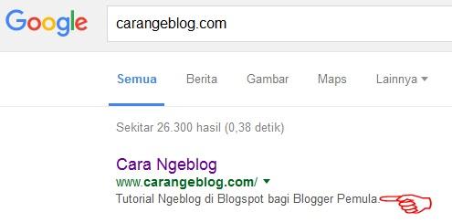 Fungsi Menu Setelan Preferensi Penelusuran Tag Meta Deskripsi Blog di Dasbor Blogger