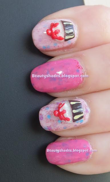 3D Cupcakes Nails