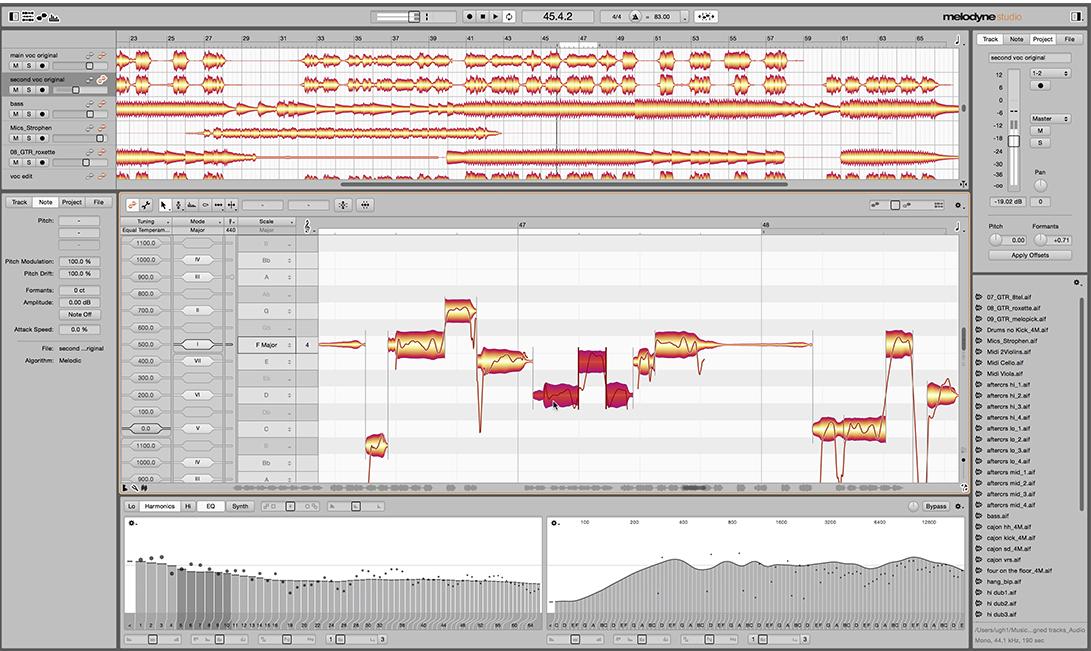 Celemony Melodyne 4 Studio Screenshot