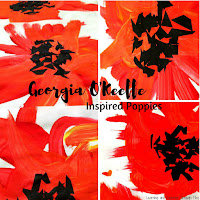 Georgia O'Keeffe Inspired Poppies