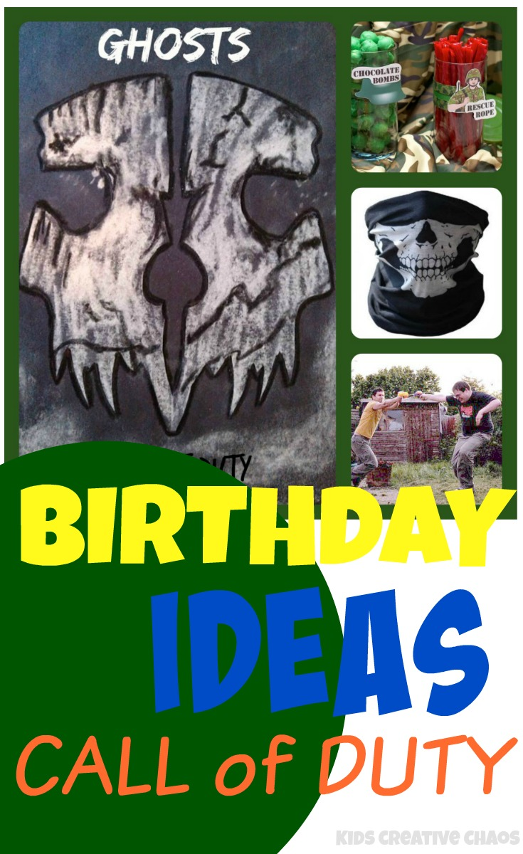 Call of Duty Theme Activities and Birthday Party Ideas for Boys and
