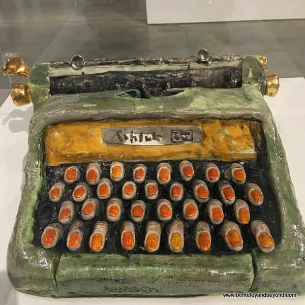 """Typewriter,"" 1965, Robert Arneson, at Berkeley Art Museum in Berkeley, California"