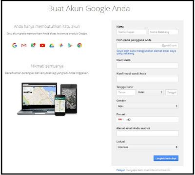 Cara Daftar Gmail Untuk Akun Google Anda