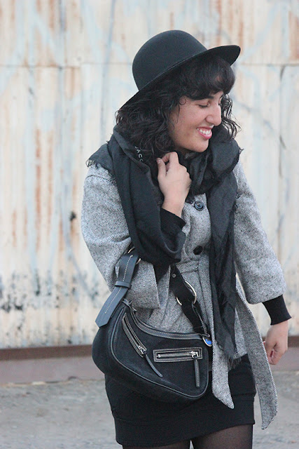 Gap Tweed Belted Coat and Felt Hat Winter Office Outfit | Will Bake for Shoes
