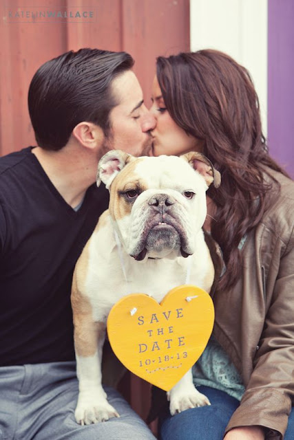 Ideas para anunciar vuestra boda con un save the date con vuestra mascota