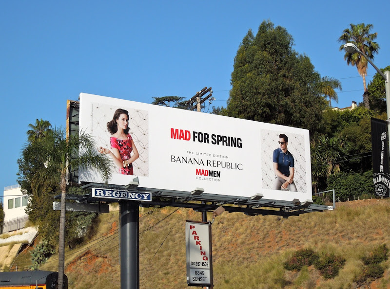 Banana Republic Mad for Spring billboard